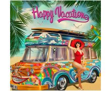 La Kelnet Microfasertuch - Vintage - Happy Vacation