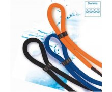 schwimmfähiges Brillenband Floater in schwarz, blau + orange blau