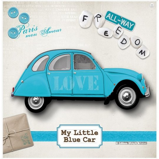 La Kelnet Microfasertuch CARS CS0898 little blue car