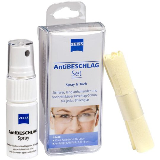 ZEISS AntiBESCHLAG Set, Spray 15 ml + Tuch 13x13cm