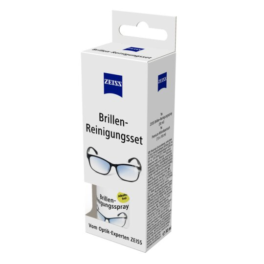 ZEISS Brillen-Reinigungsset - 30 ml Spray + 18x15cm Mikrofasertuch
