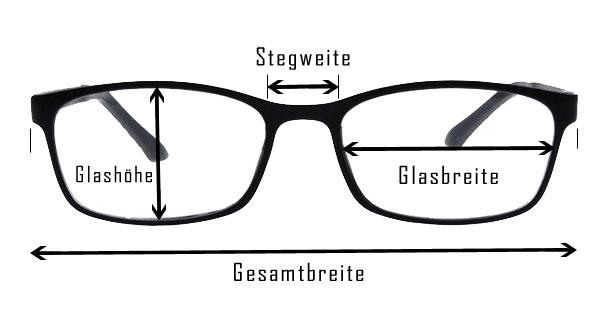 Brillenmaße